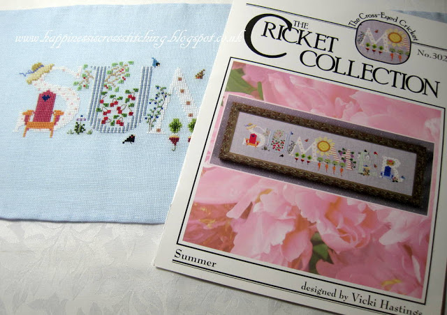 Summer cross stitch, Seasons completed and new Etsy shop plans