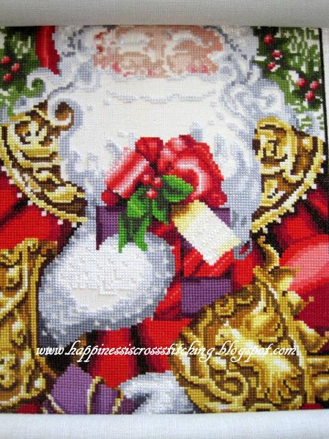 Santa progress and winner of stitch along!