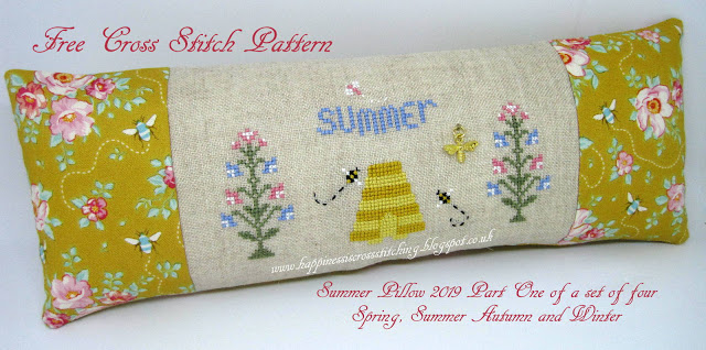 Hello Summer Cross Stitch Chart and Free Summer Embellishment