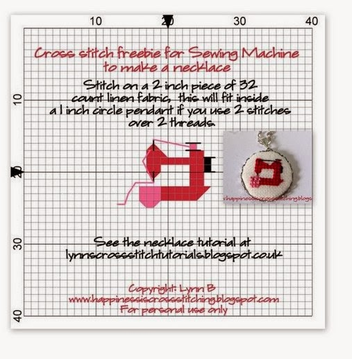 Sewing machine cross stitch  pattern