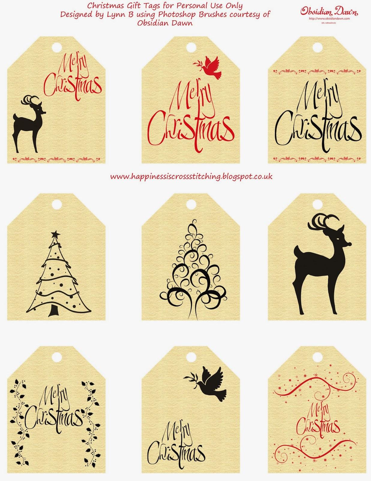 Christmas Gift Tags By Lynn B