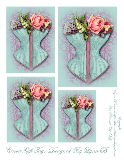 Freebie Friday – corset gift tags and thread holders.