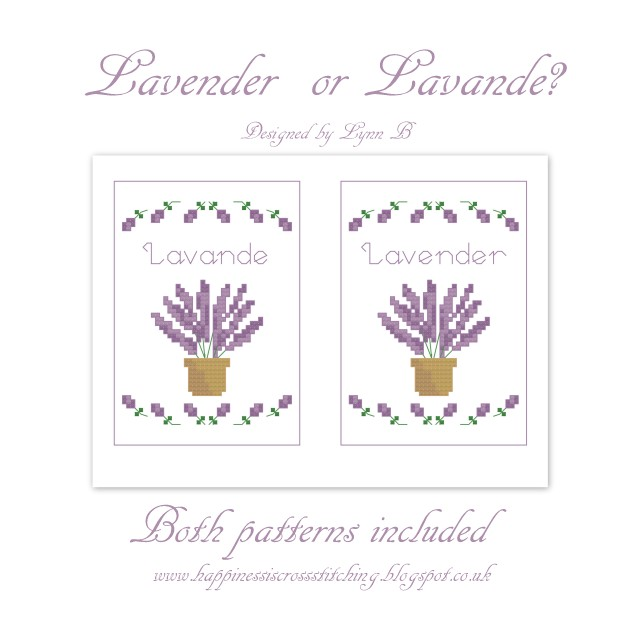 Freebie Friday – Lavender Cross Stitch pattern and a revived pattern from 2010