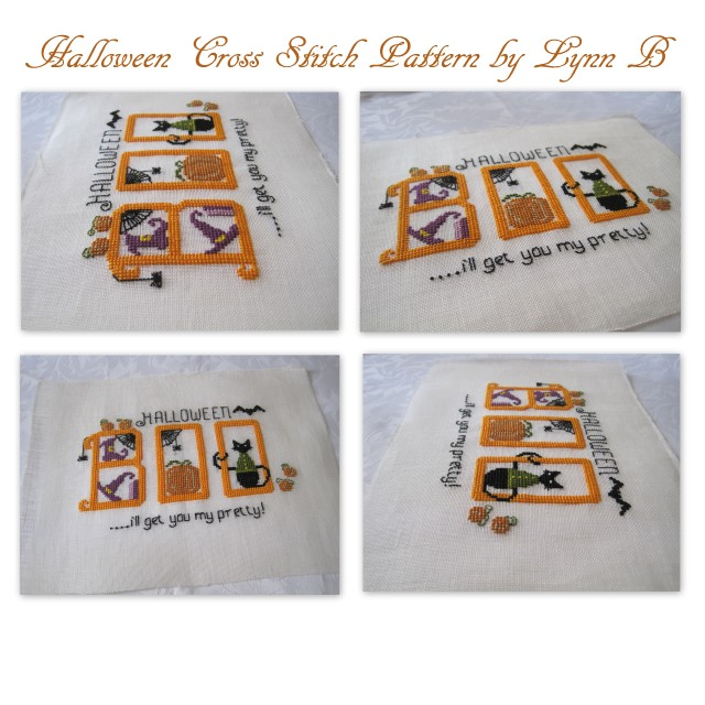 Boo Halloween cross stitch and Love to Read