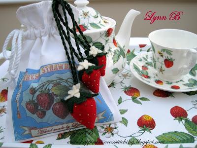 Tea and strawberries
