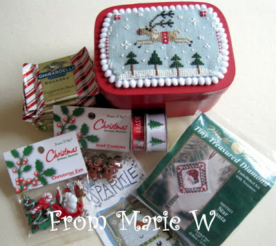 Christmas Cross Stitch Box arrived from Marie