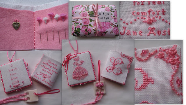Finishing instructions for cross stitch box and random act of kindness for Lizzie.