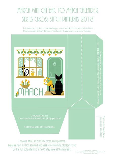 Calendar mini cat digital bag featuring cute black cat for the month of march