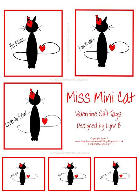 Freebie Friday – Miss Mini Cat Valentine Gift Tags and update re move to France!