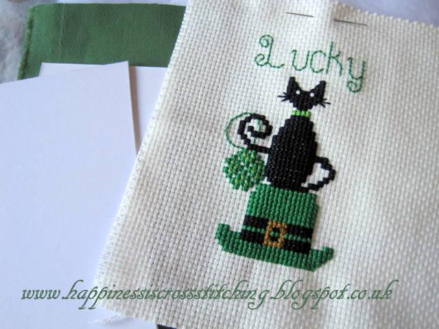 Lucky mini cat stitched