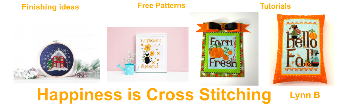 Happiness is cross stitching blog with tips, tutorials and free pattern.